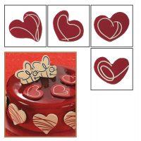 """Набор форм для создания шоколадных конфет с рисунком - """"Сердце с узором"""", 2шт. (P20-C014), уп."""