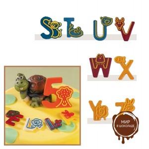 """Набор форм для создания шоколадных конфет с рисунком - """"Веселые буквы S-Z"""", 2шт. (P20-C020), уп."""
