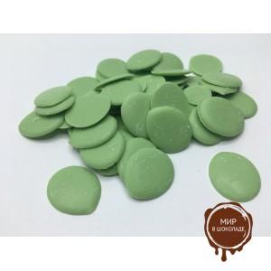 Кондитерская  глазурь зеленая со вкусом яблока, 6.5 кг.