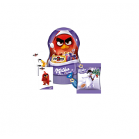 Подарочный набор конфет Milka с сюрпризами Angry Birds в банке 81 гр, 13 шт.