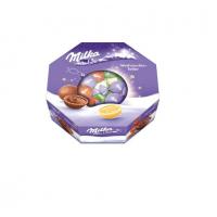 Подарочный набор конфет Рождественская тарелка Milka 141 гр, 11 шт.