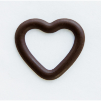 Декор фигурный Сердечко темное контурное малое 39*35 мм, 756 шт.