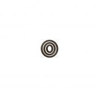 Декор из шоколадной глазури Кольцо тройное темное 71 мм, 96 шт.