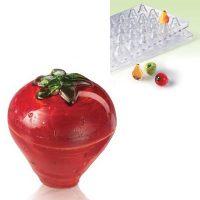 Форма для изготовления объемных конфет 3D Клубника 20FRUIT03, 1 шт.