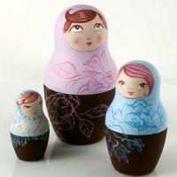 Комплект форм для шоколада МАТРЕШКА,  1 набор.