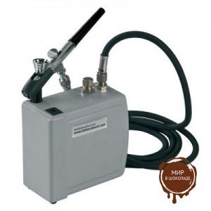 Аэрограф-краскораспылитель с компрессором (DECOCP02), 1 шт.