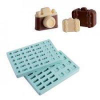 """Набор форм для конфет - """"Фотоаппарат и чемоданы"""" (PMA 4001), шт."""