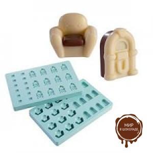"""Набор форм для конфет - """"Кресло и джук-бокс"""" (PMA 4002), шт."""