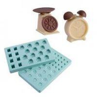 """Набор форм для конфет - """"Весы и будильник"""" (PMA 4003), шт."""