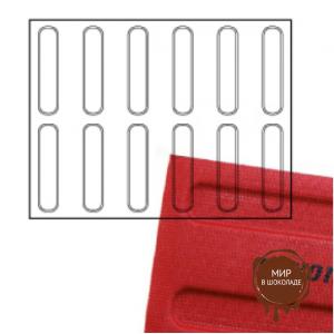 Переводные листы для шоколада, 30*40см. С Новым Годом, 12шт. (64133*R)