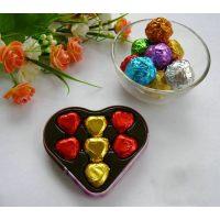 Упаковочная фольга для конфет ФИОЛЕТОВАЯ 100 шт. 10*10см