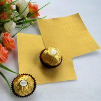 Упаковочная фольга золотая для конфет