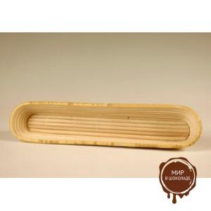 Форма для расстойки теста из ротанга багет, 40*8 см