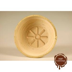 Форма для расстойки теста из ротанга круглая солнышко, 19 см