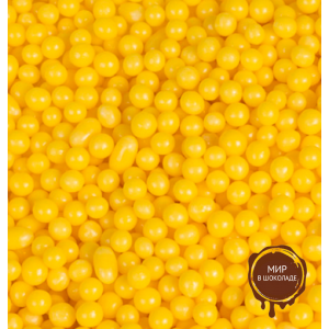 ДРАЖЕ ЗЕРНОВОЕ взорванные зерна риса в цветной кондитерской глазури ЖЁЛТОЕ, 9 кг.