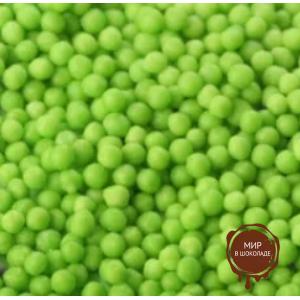 ДРАЖЕ ЗЕРНОВОЕ взорванные зерна риса в цветной кондитерской глазури  ЗЕЛЁНОЕ, 9 кг.