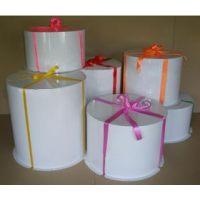 Картонная круглая коробка- тубус c усиленным дном для тортов, белая, 400/639