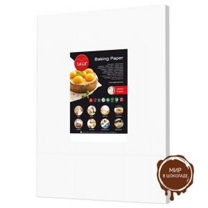 Пергаментная бумага для выпечки SAGA силиконизированная, 60*40 см, 500 листов.