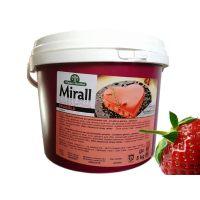 Зеркальная глазурь, со вкусом клубники, для покрытия кондитерских изделий Mirall Fragola, , ведро 5 кг
