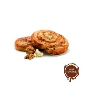 Улитка с ореховой начинкой 90 гр, кор. 80 шт.