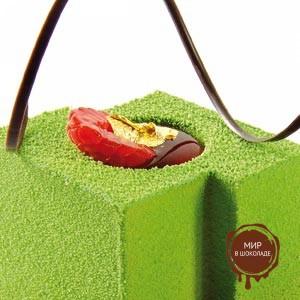 Шоколадный декор-аэрозоль ДОЛЬЧЕ ВЕЛЮТО 150 зеленый, 1 шт.