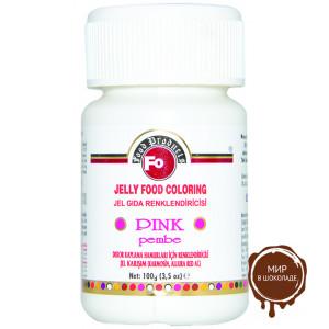 Гелевый пищевой краситель розовый FO, 100 гр.