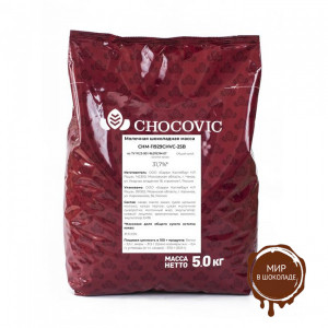 МОЛОЧНЫЙ ШОКОЛАД 33% CHOCOVIC в галетах , 5 кг.