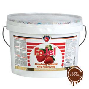 Гель холодного приготовления перламутр клубничный FO Silvery Cold Jelly Strawberry, 5 кг.