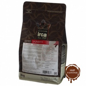 Шоколад молочный МАДАГАСКАР 38%, IRCA S.P.A , 1 кг.