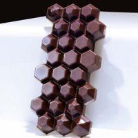 Форма для шоколадных плиток ШЕСТИУГОЛЬНИК MA2015, 1 шт.
