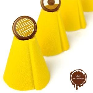 Шоколадный декор-аэрозоль ДОЛЬЧЕ ВЕЛЮТО жёлтый, 1 шт.