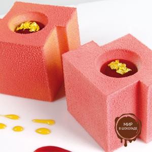 Шоколадный декор-аэрозоль ДОЛЬЧЕ ВЕЛЮТО розовый, 1 шт.