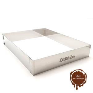 Форма для выпечки металлическая ПРЯМОУГОЛЬНИК 300х400х60, 1 шт.