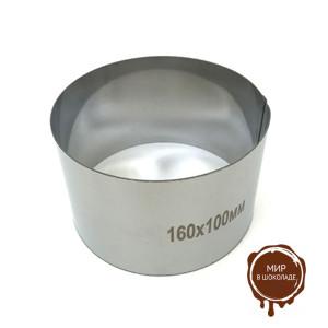 Форма для выпечки металлическая КОЛЬЦО D 160/H 100мм, 1 шт.