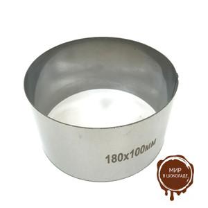 Форма для выпечки металлическая КОЛЬЦО D 180/H 100мм, 1 шт.