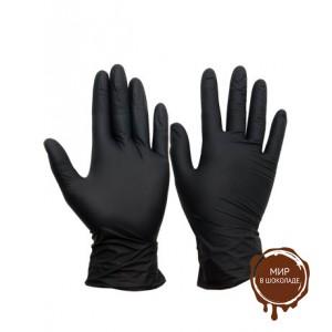 LAB+Перчатки нитриловые черные М, короб 100 шт.
