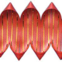 Лента декоративная золото красная, короб 10 м.