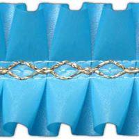 Лента декоративная голубая, короб 15 м.