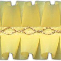 Лента декоративная желтая, короб 15 м.