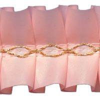Лента декоративная розовая, короб 15 м.