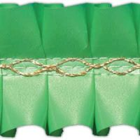Лента декоративная зеленая, короб 15 м.