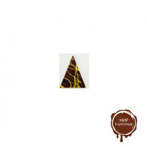 Декор фигурный темный Треугольник средний 60 х 30 мм , 440 шт