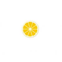 Декор фигурный белый Лимон с надписью из желтой глазури , 612 шт.