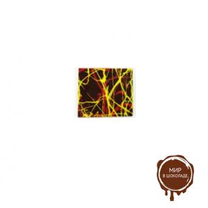 Декор фигурный темный Квадрат большой 55 х 55 мм, 800 шт