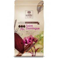 ТЕМНЫЙ КУВЕРТЮР SAINT DOMINGUE 70 % какао, монеты, Cacao Barry /Франция/, 1 кг.