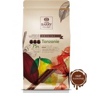 ТЕМНЫЙ КУВЕРТЮР «TANZANIE», 75 % какао, монеты, 1 кг.