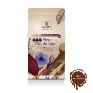 ТЕМНЫЙ КУВЕРТЮР FLEUR DE CAO 70% какао, монеты, Cacao Barry, Франция, 5 кг.