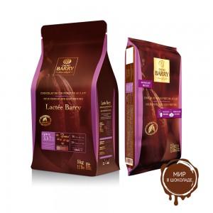МОЛОЧНЫЙ КУВЕРТЮР LACTEE SUPERIEURE 38,2% какао, монеты, Cacao Barry /Франция/, 5 кг.
