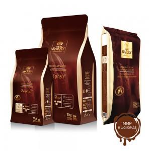 БЕЛЫЙ ШОКОЛАД ZEPHYR 34% какао, монеты, Cacao Barry /Франция/, 1 кг.