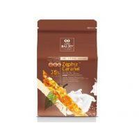 БЕЛЫЙ ШОКОЛАД С КАРАМЕЛЬЮ ZEPHYR CARAMEL 35% какао, монеты, Cacao Barry /Франция/, 2,5 кг.